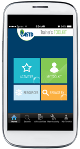 ASTD app home screen